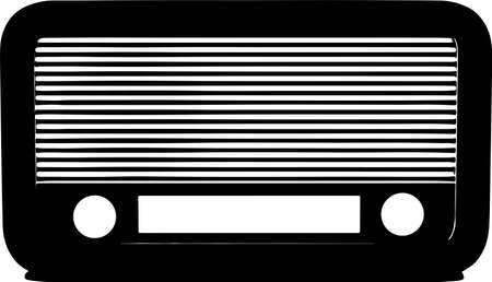 radio icon on white background Иллюстрация