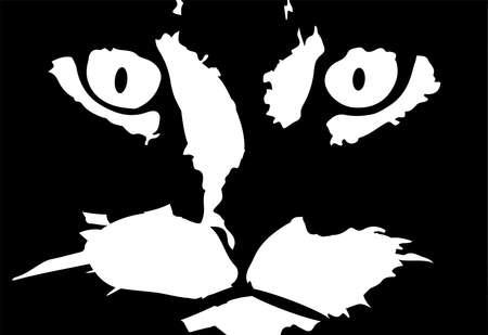 cat vector illustration on background Иллюстрация