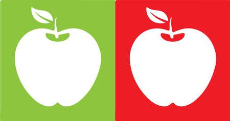 apple vector illustration on background Иллюстрация
