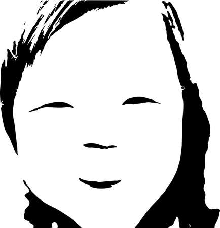 girl face vector illustration isolated on background