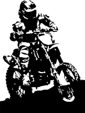 motorcycle vector illustration on background Иллюстрация