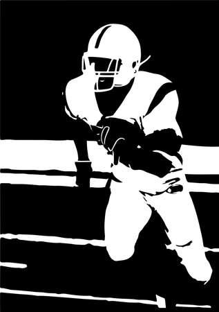 american football vector illustration on background