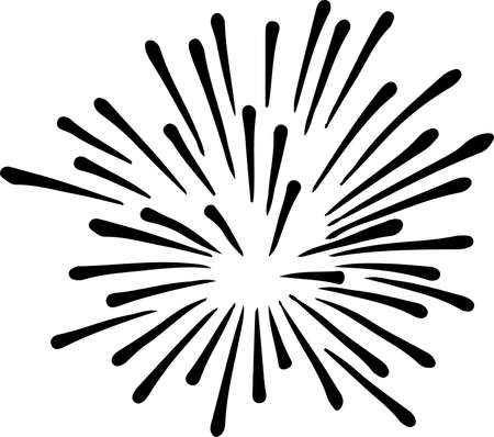 firework icon on white background Иллюстрация