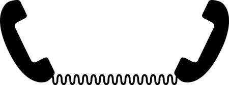 telephone vector on white background