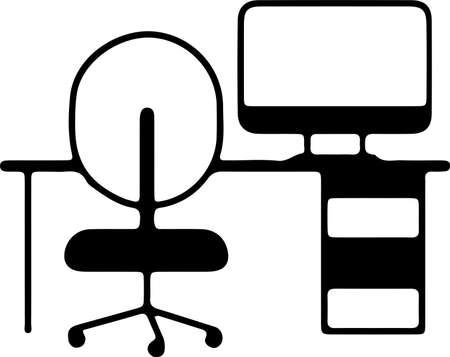 desk icon isolated on white background