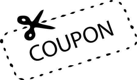 coupon icon isolated on white background Иллюстрация