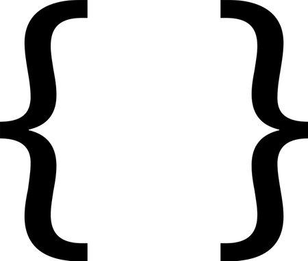 Braces symbol isolated on white background Иллюстрация