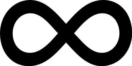 infinity icon isolated on white background