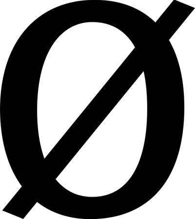 Empty set symbol icon isolated on white background