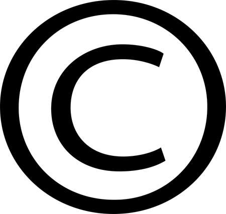 copyright icon isolated on white background Иллюстрация