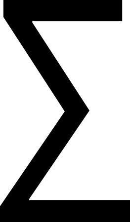 sigma icon isolated on white background
