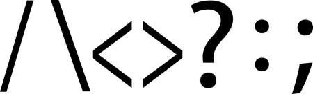 set of symbol isolated on white background