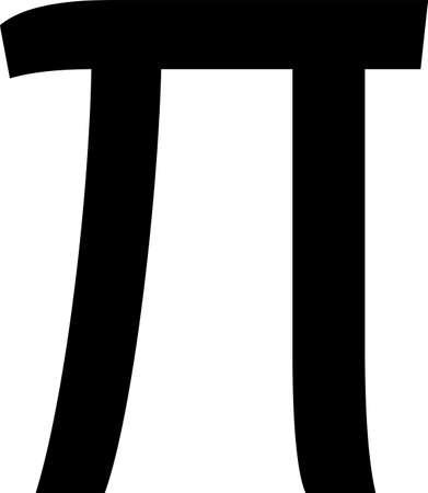 Pi symbol isolated on white background