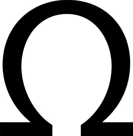 ohm symbol isolated on white background Иллюстрация