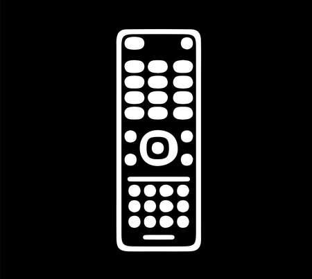 remote control icon on black background