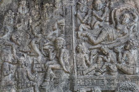 bas relief: Bas-relief ciment de l'artisanat de style tha�landais.