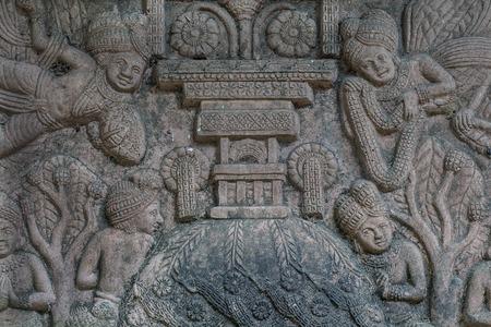 bas relief: Bas-relief ciment artisanat de style tha�landais. Banque d'images