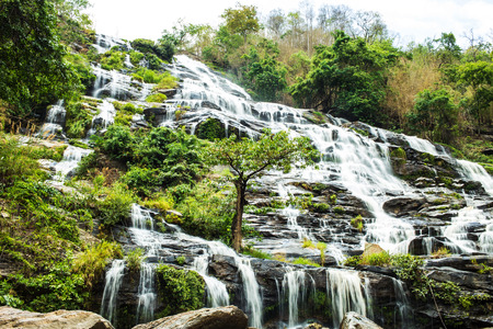 Mae Ya waterfall in Doi Inthanon national park, Chiang Mai, Thailand photo