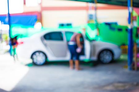 muck: Blur image, car washing cleaning.