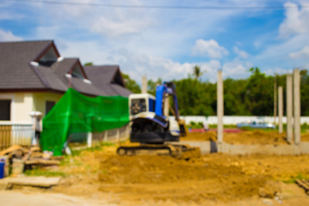roof framing: Blur image, home Construction