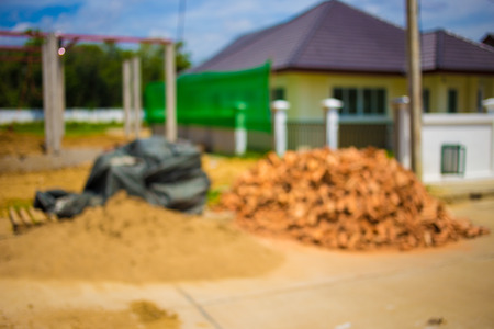 home construction: Blur beeld, thuis Bouw