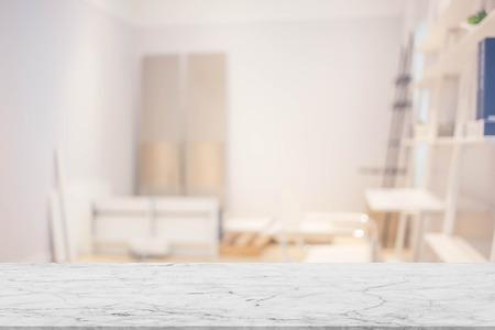 living room interior: blur image of modern living room interior Stock Photo