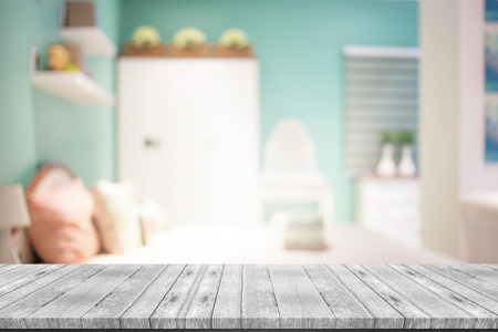 blurred background of home Bedroom Stock Photo - 76670109