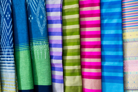 Many silk lined in colorful. Each of them has a beautiful and individual meaning in each color.