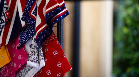Handkerchief, US flag, red and others