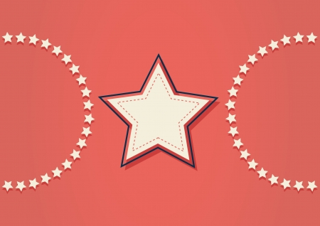 american stars pattern background Vector
