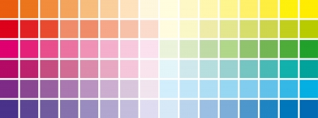 chromatic color: chromatic scale squares all colors Illustration