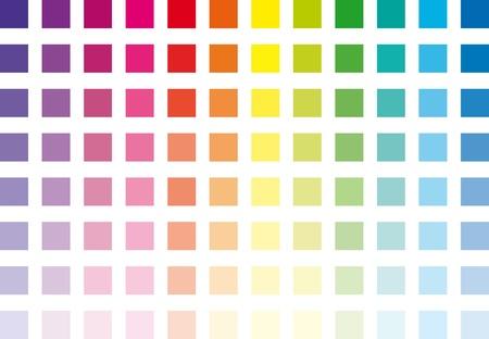 chromatique: carr�s chromatiques � l'�chelle de toutes les couleurs Illustration