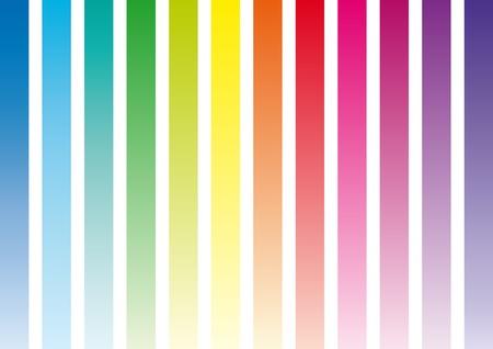 chromatique: bandes de gamme chromatique toutes les couleurs