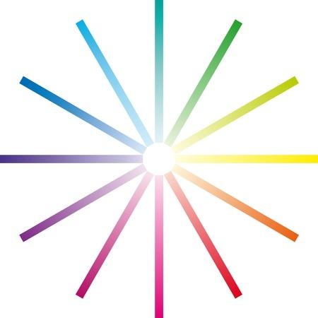 chromatique: bandes de gamme chromatique toutes les couleurs drapeau