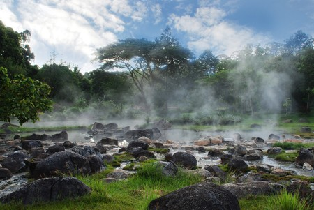 groundwater: Hot Spring in Thailand