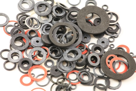 rubber gasket: seals and gaskets Stock Photo
