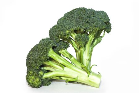 florets: Two florets of broccoli Stock Photo