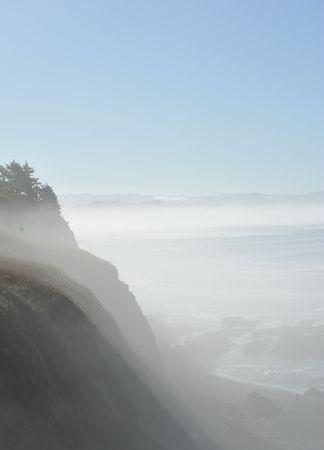 Rolling Fog At Yaquina Head