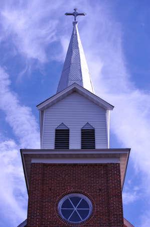 Church Steeple - Wisconsin Stock Photo