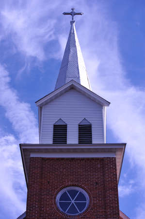 clocher: �glise Steeple - Wisconsin Banque d'images