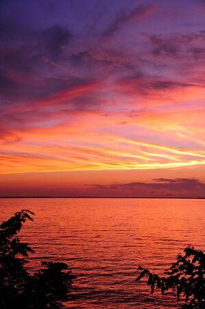 Dramatische Sunset After the Storm op Strongs Prairie, Wisconsin