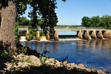 Dam at New Lisbon, Wisconsin Фото со стока