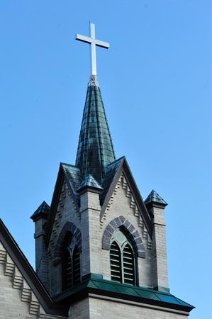Steeple nummer twee op Westfield Lutheran Church - Wisconsin