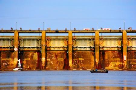 Fishing in Winter at Petenwell Dam photo