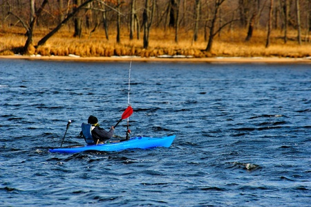 Winter Kayaking on the Wisconsin River photo