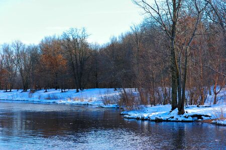 Winter Blues on the Wisconsin River