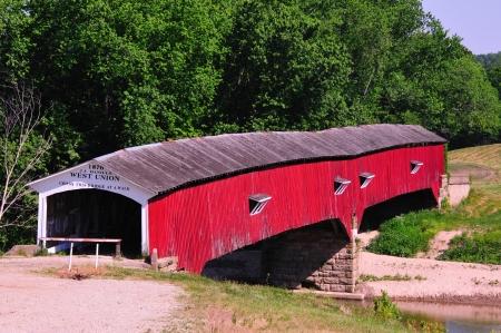 West Union Covered Bridge, Indiana - 1876