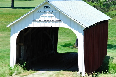 Little Catlin Covered Bridge in Parke County, Indiana - 1907