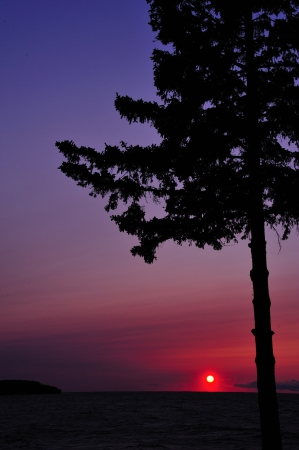 gills: Door County Sunset at Gills Rock, Wisconsin