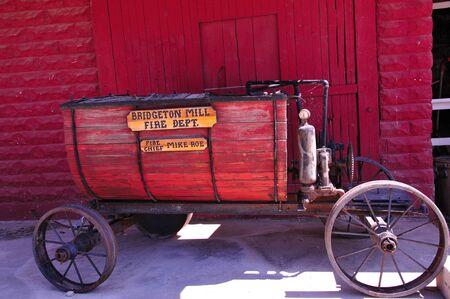 Antieke brandweer Water Wagon in Indiana